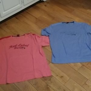 2 tommy shirts..